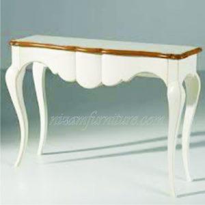 Meja Konsol Duco Mahogani putih